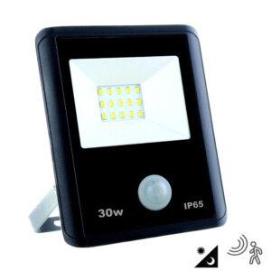 Foco Proyector LED 30W Sensor Movimiento PIR