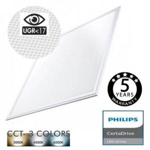 Panel LED 60x60 44W Certa Driver Philips UGR17 - CCT