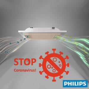 Panel LED 60x60 con sistema de filtrado de aire - Lámpara Philips UV-C Germicida