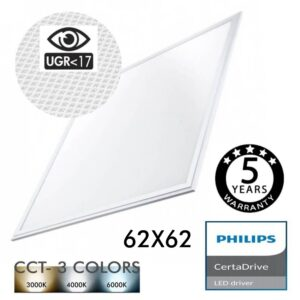 Panel LED 62x62 44W Certa Driver Philips UGR17 - CCT