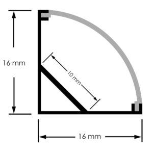 Perfil de aluminio L 2 metros 12V/24V