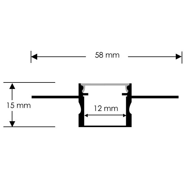 perfil de aluminio con alas 2 metros