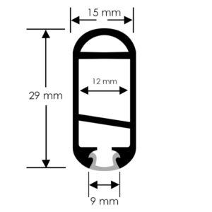 Perfil LED para armarios para tiras de 12mm ancho máx. 2m (min 2 uds)