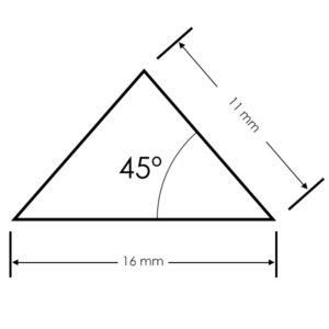 Perfil triangular aluminio para tiras LED