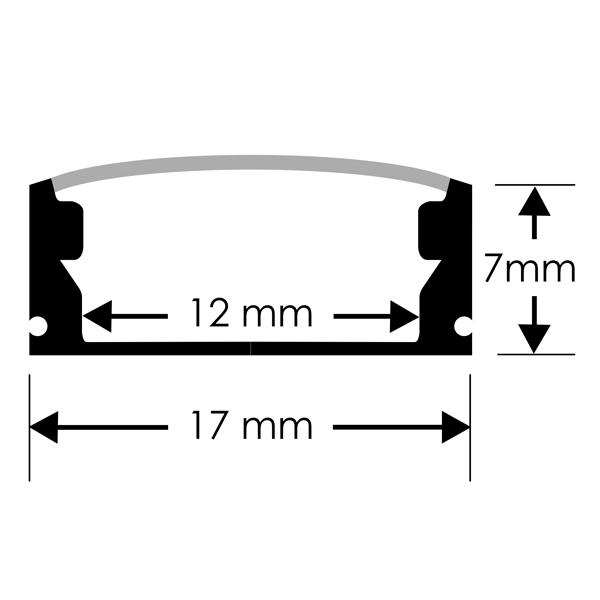 Perfil en U para tiras LED