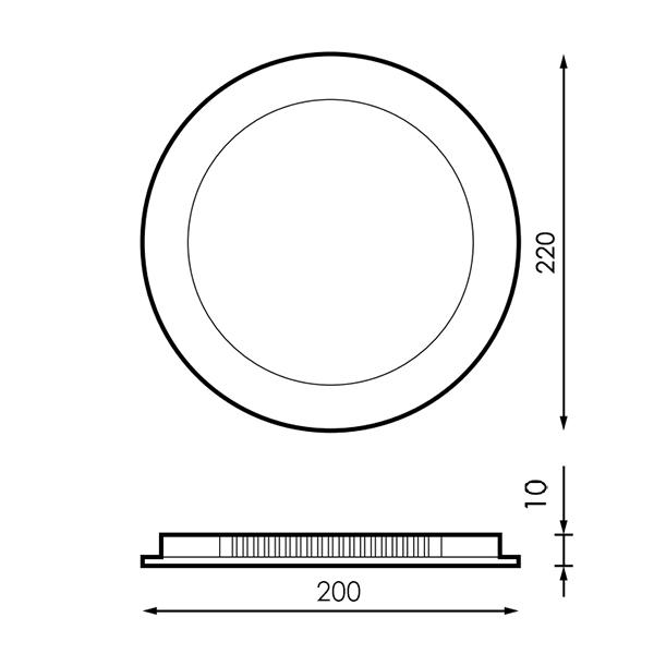 medidas downlight 20w