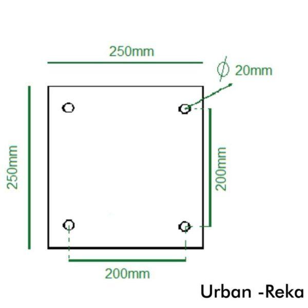 medidas columna reike 3 metros